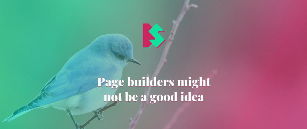Cover image for Page builders might not be a good idea