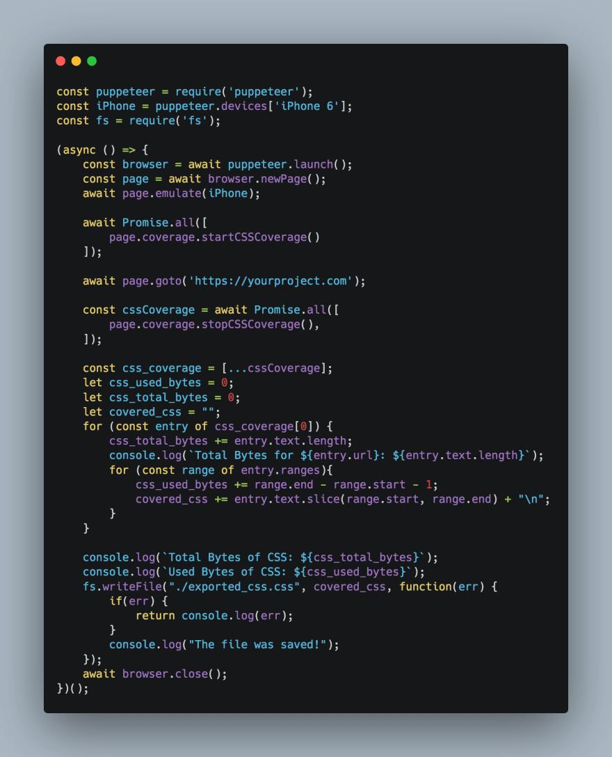 CSS Purge script
