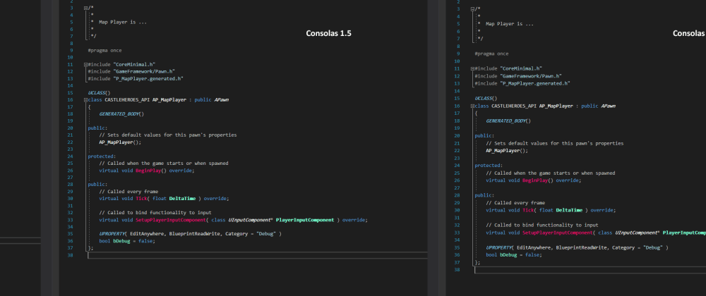 Cover image for Line spacing in Visual Studio