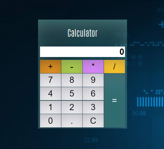 How to develop A simple js calculator using HTML CSS and Javascript