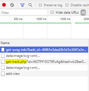 Network tab in DevTools