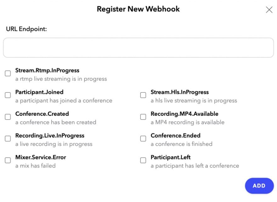 register new webhook