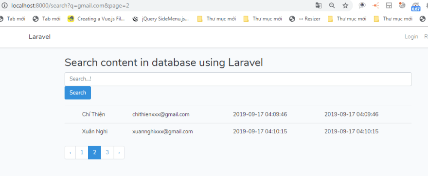 pagination for search results in laravel 5.8 - hoanguyenit.com