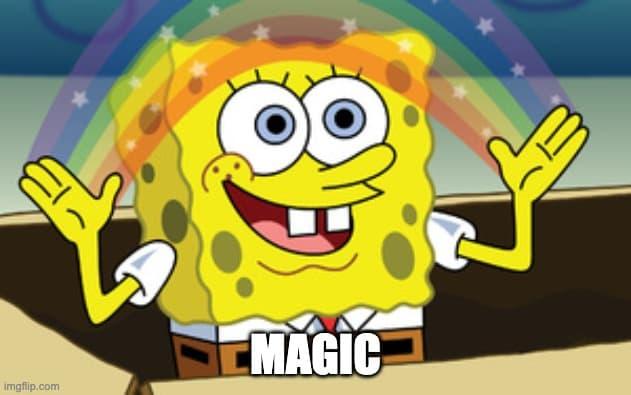 sponge bob magic