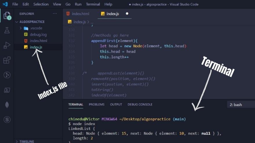 vscode screenshot