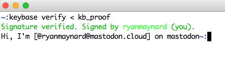 Keybase Verification
