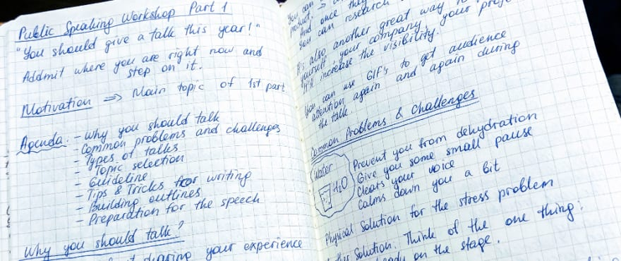 Notes from the Public speaking workshop, part 1. Photo by Maria Ovsyannikova.