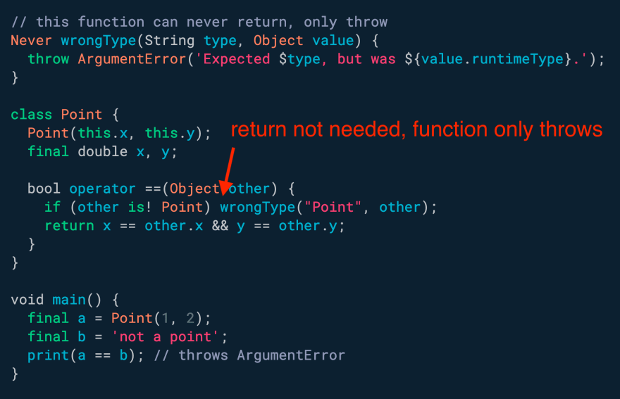 Want a function that can only throw? Use Never
