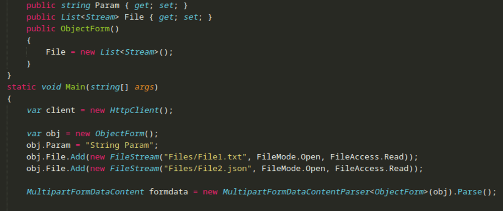Cover image for Como converter Object para MultipartFormDataContent ASP.NET
