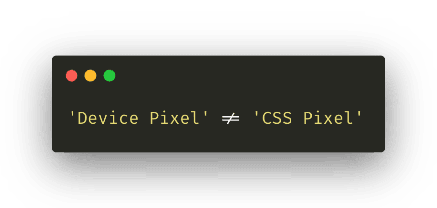 "An image saying ""device pixel does not equal css pixel"