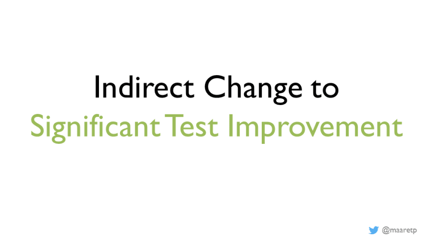 Indirect change