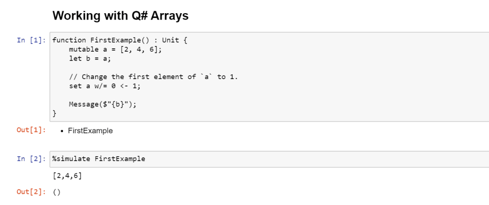 Cover image for An array of facts on arrays in Q#