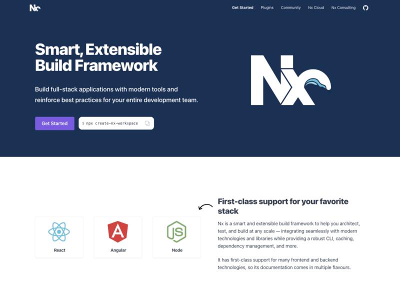 New nx.dev website