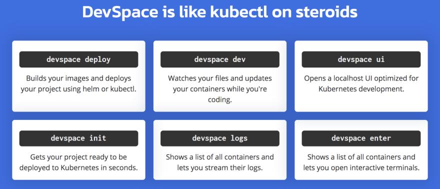 devspace commands