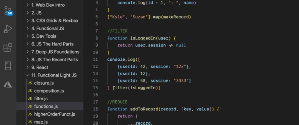 Cover image for [6] JavaScript – Map, Filter & Reduce