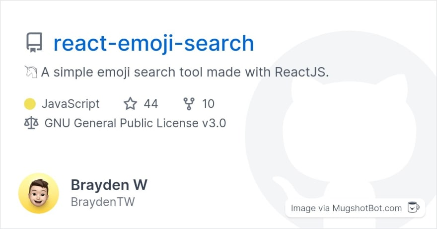react-emoji-search social preview via Mugshot Bot