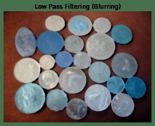 Low Pass Filtering (Blurring)