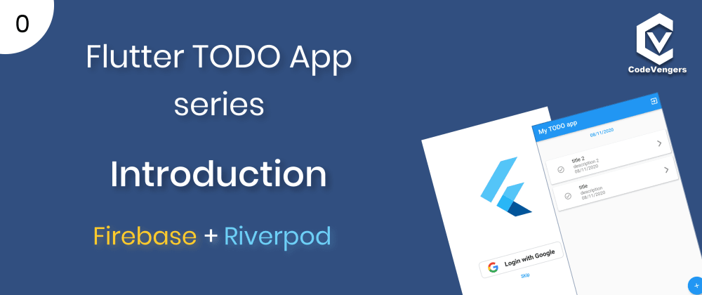 Cover image for Flutter TODO app series! Introduction