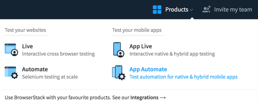 BrowserStack App Automate