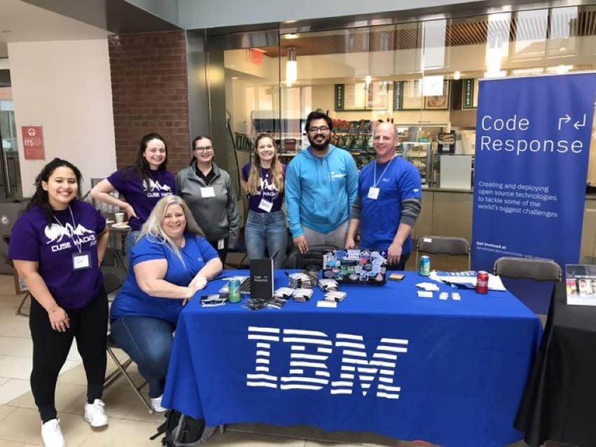 IBM Table at CuseHacks 2020