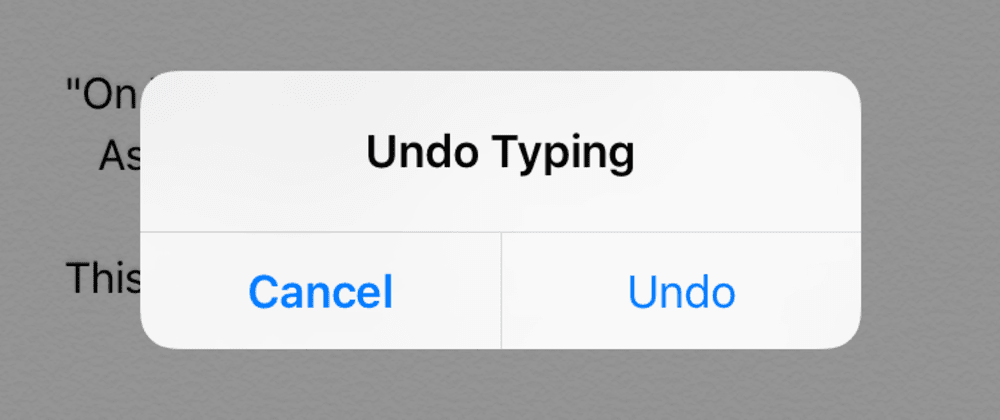 Cover image for Undo typing