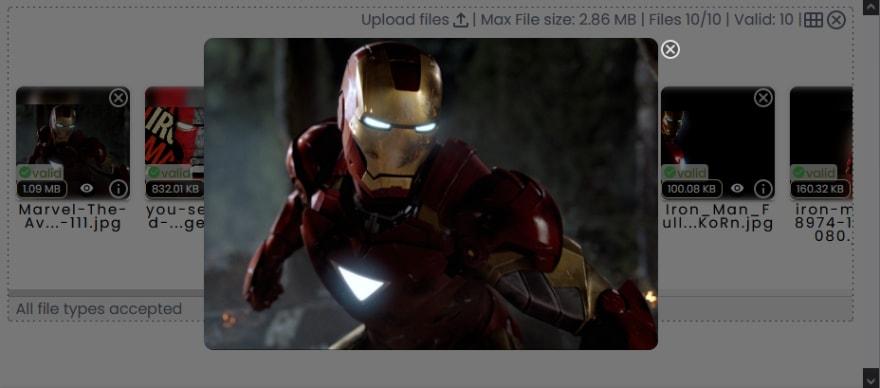 ironman-fullscreen-dropzone-ui
