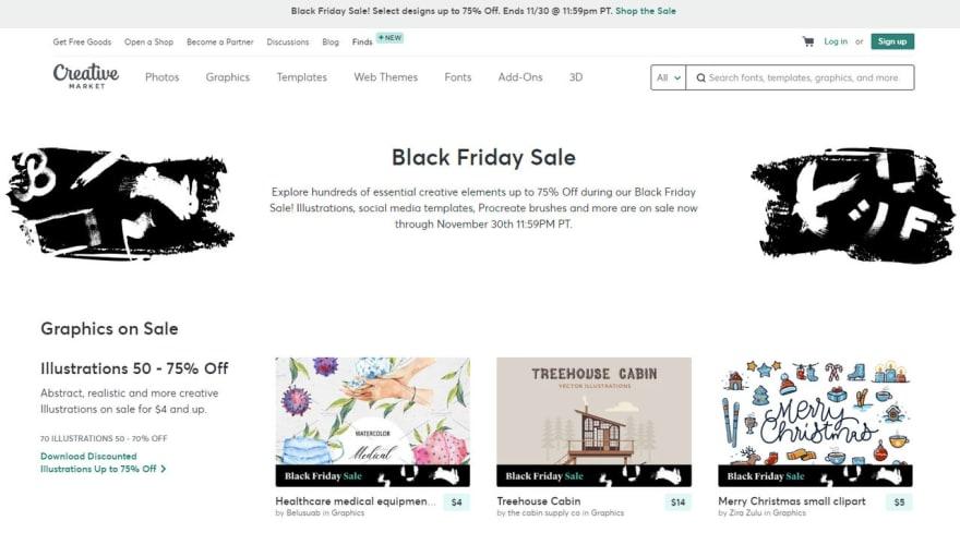 Black Friday on Creative Market