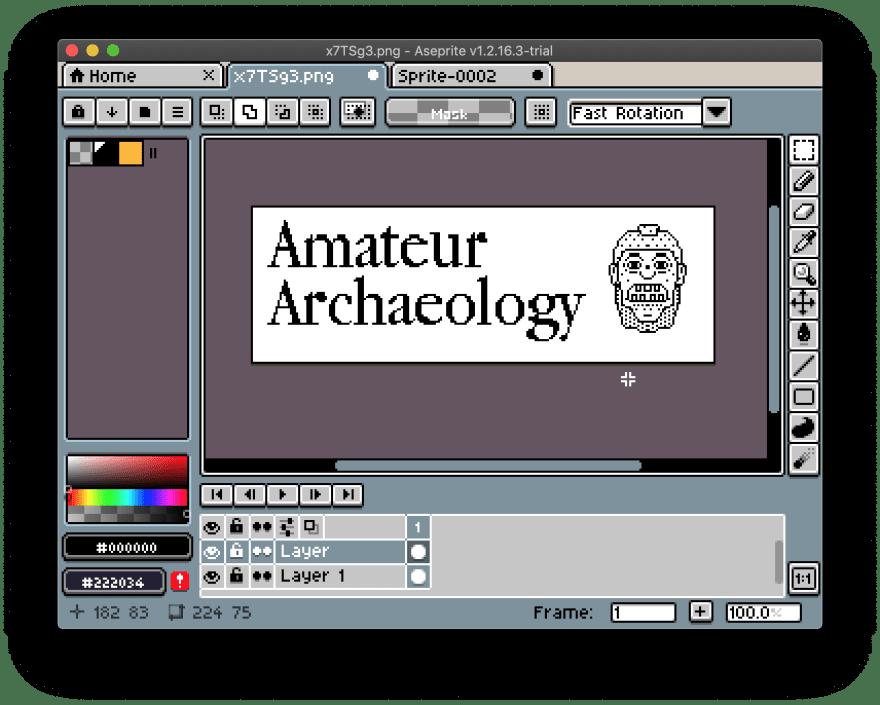 Screenshot of Aseprite
