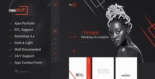 Nexout - creative Ajax portfolio theme