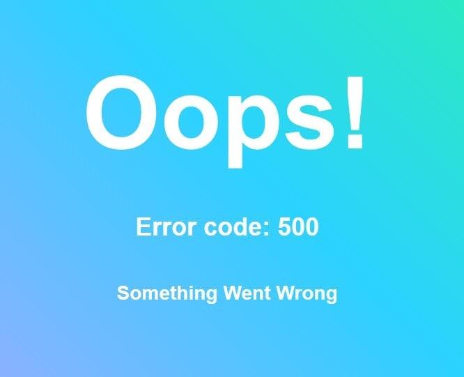 Error page example