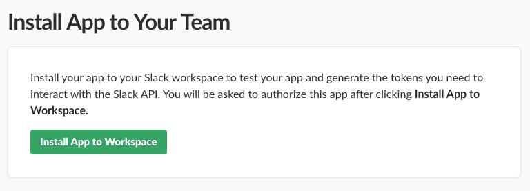 Slack Install App