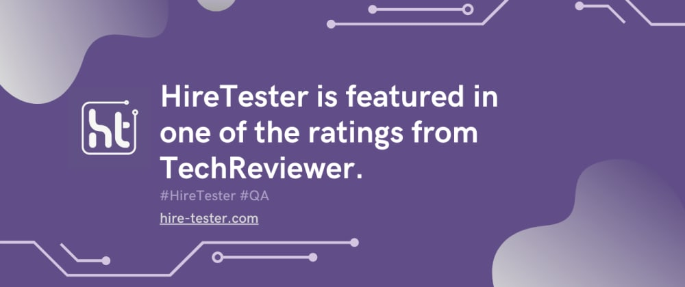 Cover image for HireTester is featured in one of the ratings from TechReviewer