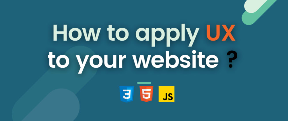 Cover image for How to apply UX to your website?