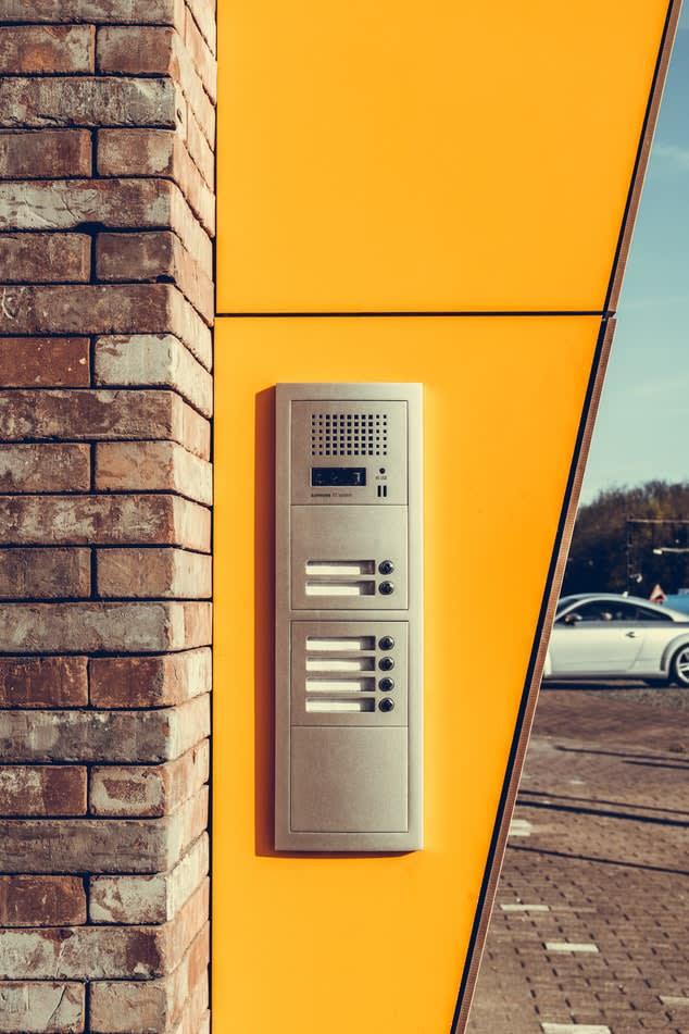 door with buzzer