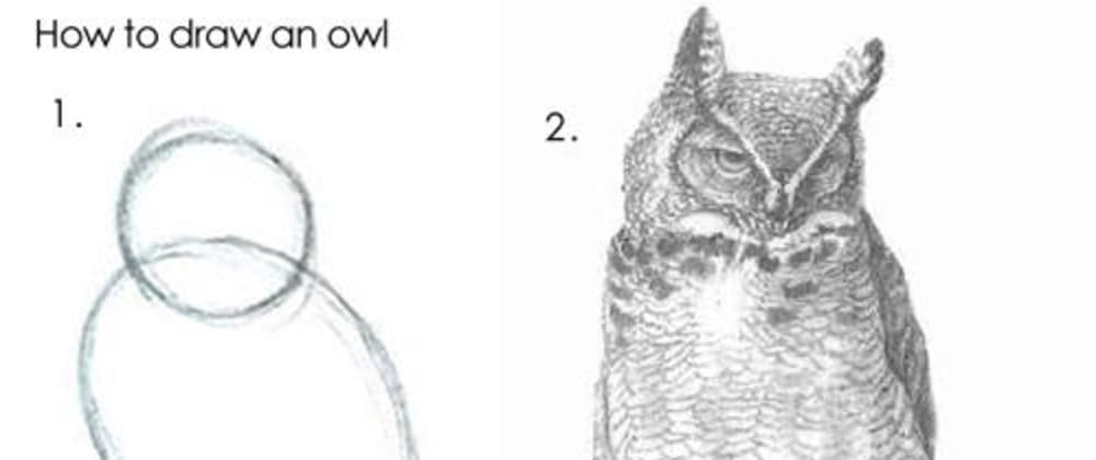 Cover image for Draw the Rest of the F**king Owl: Approaching Software Design as a Beginner