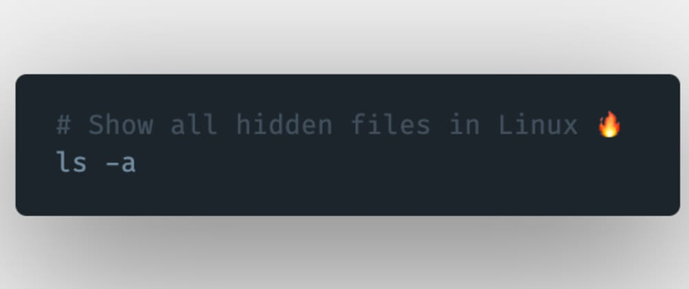 Cover image for How to show or see all the hidden files in Linux?