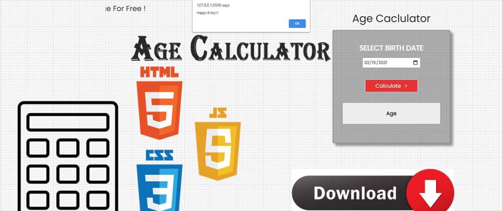 Cover image for Javscript Age Calculator