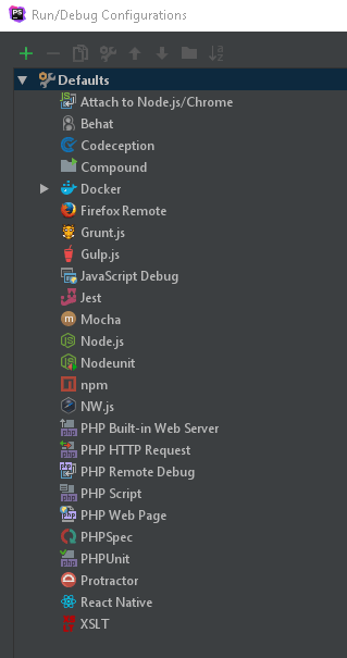 Different tools you can set up in PhpStorm