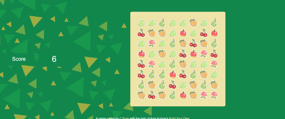 Cover image for Breaking Down and Understanding Ania Kabow's Build Your Own Candy Crush using Javascript Part 1 - Create the Game Board