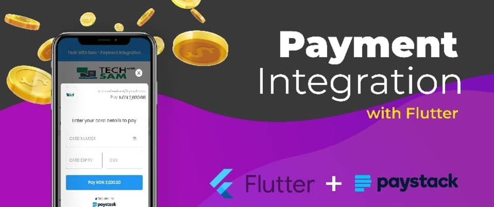 Cover image for A simple way to integrate/implement Payment Gateway in Flutter app - (Paystack).