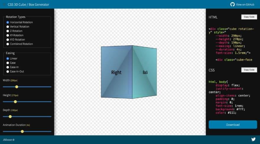 CSS 3D Cube / Box Generator