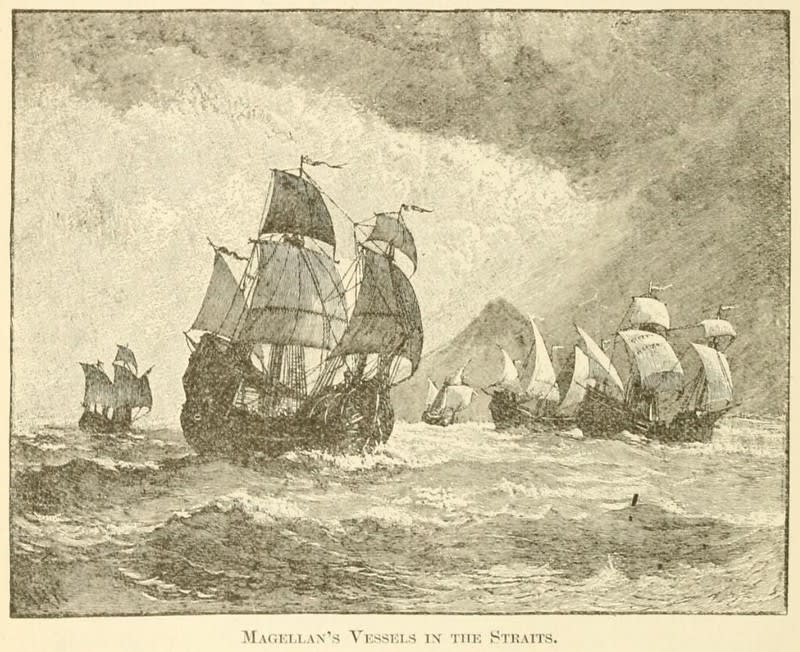Magellan's Vessels in the Straits