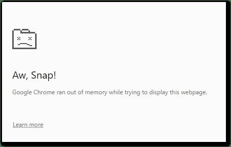 Memory leak in google chrome