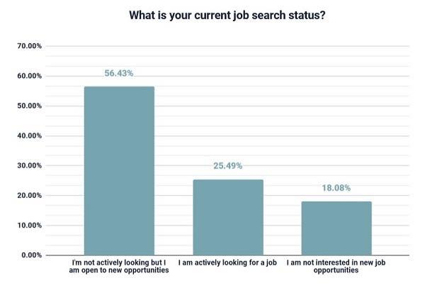 current developer job status in this survey