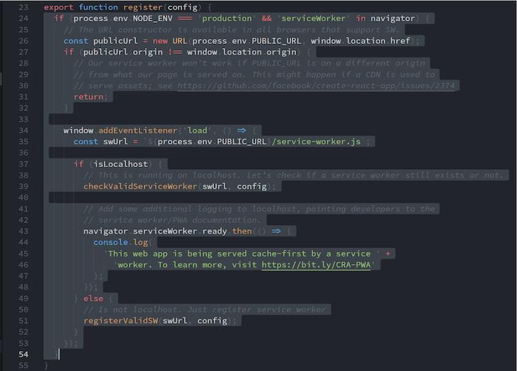 Selecting Code