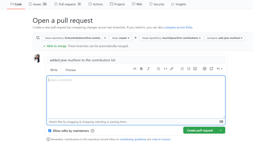 open source contribution on github