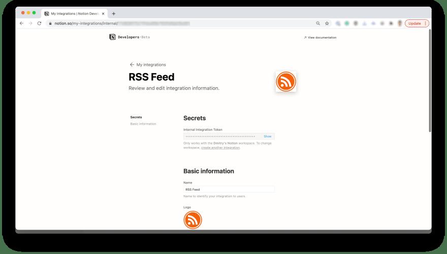 Integration page