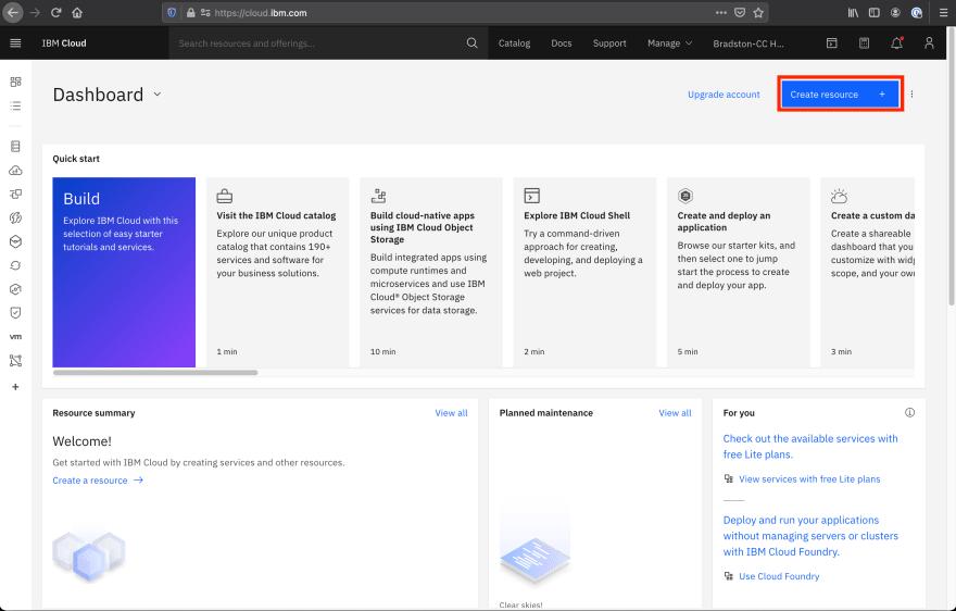 IBM-Cloud-Dashboard-Create-Resource
