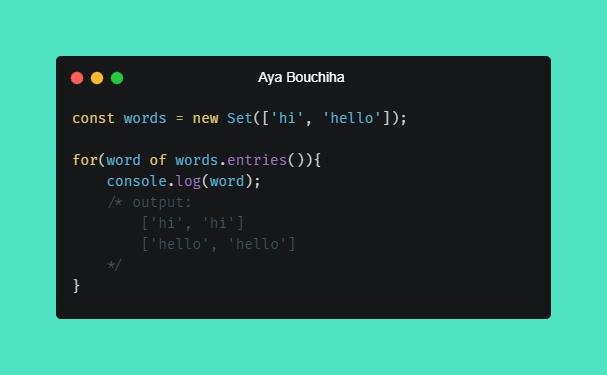 Aya Bouchiha Set Methods