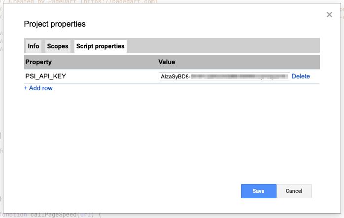 API Key added to the script
